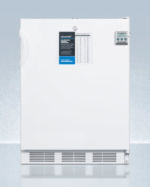 ADA Compliant General Purpose Refrigerator-freezer With Dual Evaporator Cooling, Nist Calibrated Thermometer, Internal Fan, and Front Lock