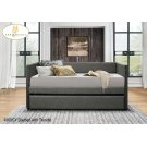 Daybed with Trundle Grey Product Image