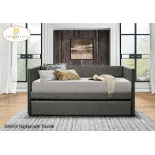 Daybed with Trundle Grey