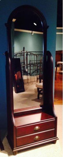 Cherry Cheval Mirror with Storage
