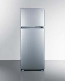 "Frost-free refrigerator-freezer in slim 24"" footprint and platinum finish"