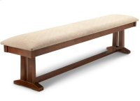 """Brooklyn 72"""" Pedestal Bench in Fabric or Bonded Leather Product Image"""