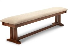 "Brooklyn 72"" Pedestal Bench in Fabric or Bonded Leather"