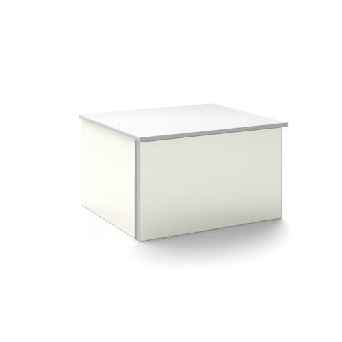 """V14 24-1/4"""" X 14"""" X 21"""" Wall-mount Vanity In Beach With Push-to-open Full Storage Drawer and Night Light"""