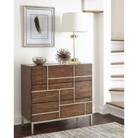 Mid-century Modern Warm Brown Accent Cabinet