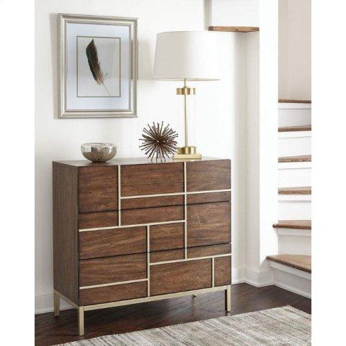 Mid-century Modern Warm Brown Accent Cabinet