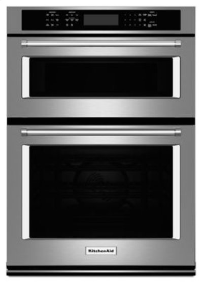 "27"" Combination Wall Oven with Even-Heat True Convection (lower oven) - Stainless Steel Product Image"