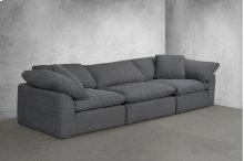 Sunset Trading Cloud Puff Slipcovered 3 Piece Modular Sectional Sofa - 391094
