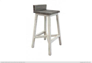 "30"" Stool - with wooden seat & Base - Stone finish"