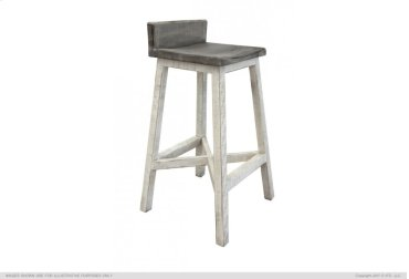 "30"" Stool - with wooden seat & Base - Stone finish"