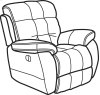 Nashua Fabric Power Recliner