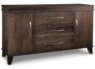 Verona Sideboard w/2 Wood Doors & 3/Dwrs in Center & 2/Wood Adjust. Product Image