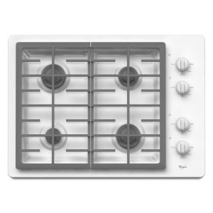 30-inch Gas Cooktop with two 12,500 BTU Power Burners - WHITE