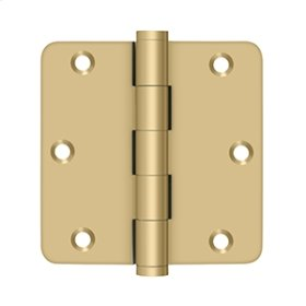 "3 1/2""x 3 1/2""x 1/4"" Radius Hinges - Brushed Brass"
