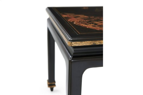The Earl's Travels Side Table - Chinoiserie Hand-painting