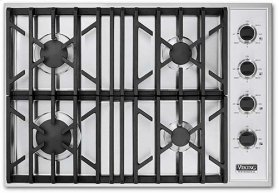 """White 30"""" Gas Cooktop - VGSU (30"""" wide cooktops)"""