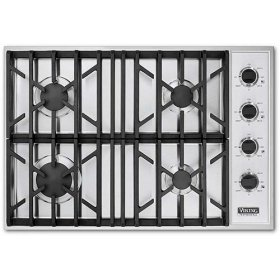 """Stainless Steel 30"""" Gas Cooktop - VGSU (30"""" wide cooktops)"""