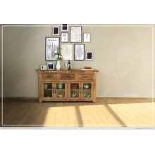 Console w/ 3 Drawer & 4 Glass Door