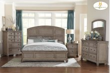 HOMELEGANCE 1707-1-9 Lavonia Queen Bed, Nightstand, Dresser, Mirror & Chest Group