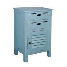 CC-CHE512LD-BB  Cottage Beach Blue Accent Table