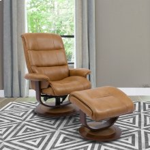Knight Butterscotch Manual Reclining Swivel Chair and Ottoman