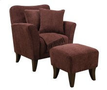Sunset Trading Cozy Accent Chair with Ottoman, Pillows and Throw