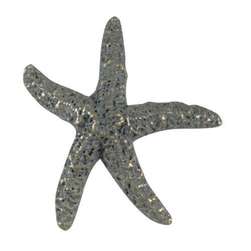 Starfish Knob 2 Inch - Verdigris