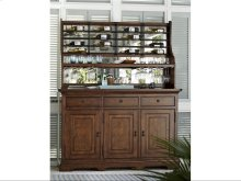 Credenza with Wine-On-The-Wall Rack - Low Tide