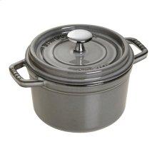 Staub Cast Iron 0.75-qt Round Cocotte, Graphite Grey