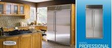 "42"" Side by Side Refrigerator/Freezer - 42"" Marvel Professional Side-by-Side Refrigerator/Freezer - Stainless Steel Interior, Stainless Steel Door"
