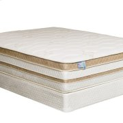 """Queen-Size Zinnia 15"""" Gel-infused Euro Pillow Top Mattress Product Image"""