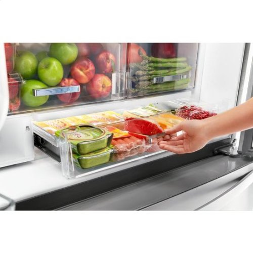 Whirlpool® 36-inch Wide Counter Depth French Door-within-Door Refrigerator - 24 cu. ft. - Black Stainless