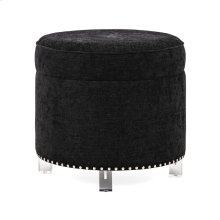 Collins Velvet and Acrylic Ottoman