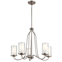 Lorin 5 Light Chandelier Classic Pewter