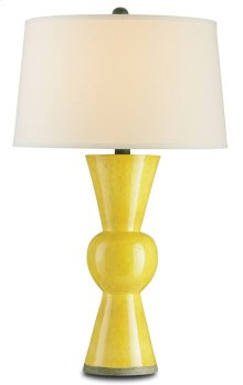 Upbeat Yellow Table Lamp