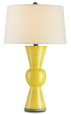 Upbeat Yellow Table Lamp