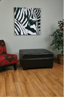 Detour Storage Ottoman With Tray In Espresso Bonded Leather