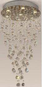 Crystal Ceiling Lamp, Chrome/crystals, Type Gu10 50wx7 Product Image