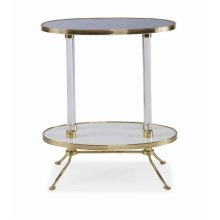 Juliet Cigarette Table With Blue Mirror