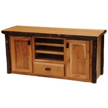 Entertainment Center Natural Hickory