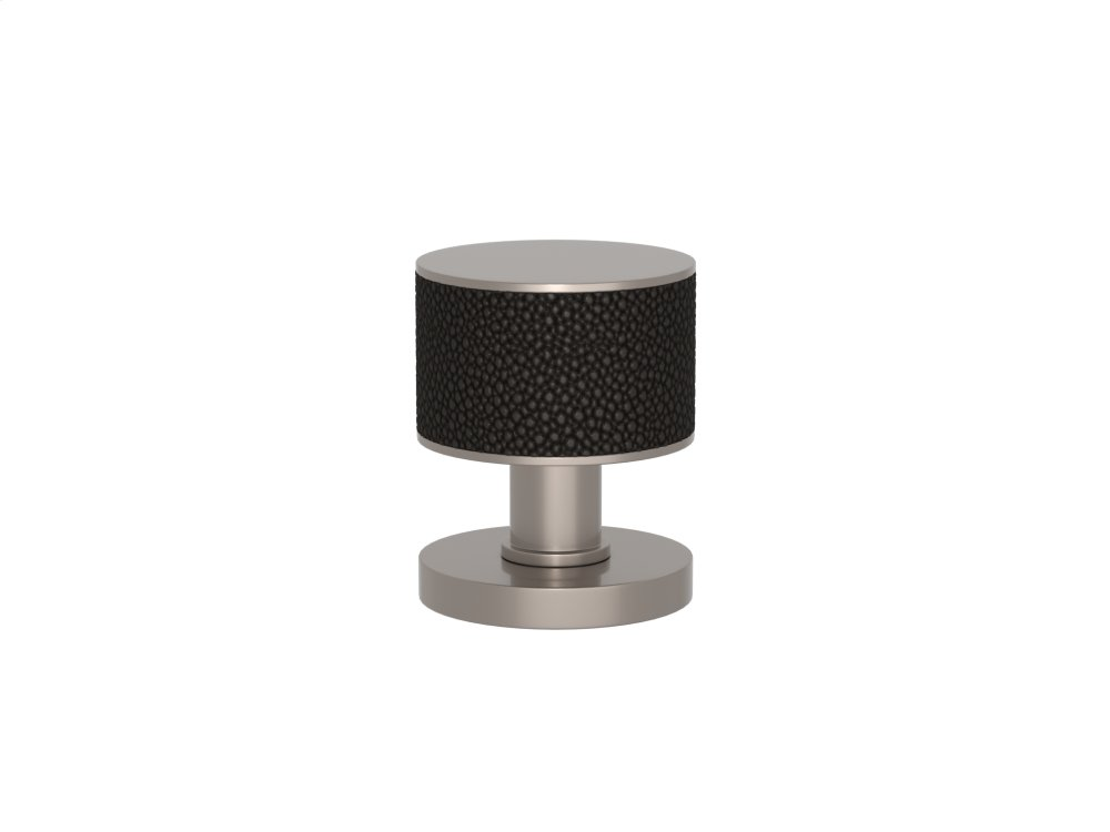 Stacked Shagreen Recess Amalfine In Black Bronze And Satin Nickel