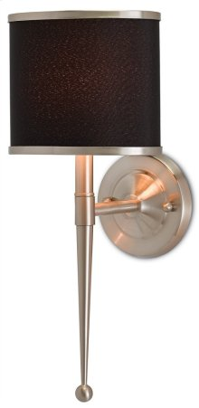 Primo Black Nickel Wall Sconce