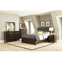 Jaxson Transitional Cappuccino Eastern King Five-piece Set