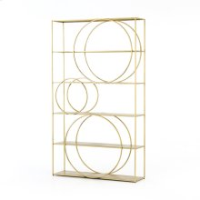 Brass Patina Finish Danielle Bookshelf