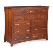 "Loft 12-Drawer Bureau, 60""w, Cherry #28 Bourbon, Loft 12-Drawer Bureau, 60""w, Cherry"