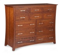 "Loft 12-Drawer Bureau, 60""w, Cherry #28 Bourbon, Medium Product Image"