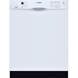 Bosch24 '' Recessed Handle Dishwasher 500 Series- White SHE55M12UC