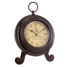 Brown Iron Desk Clock