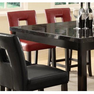 Master Counter Ht Chair Red