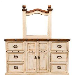 "Dresser : 65"" x 21"" x 37"" Don Carlos White Dresser"